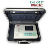 312Meditech t 3 Canais Digitais de ECG 12 derivações de ECG / Máquina de ECG +eletrocardiográficas de Software