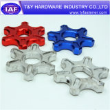 Piezas de aluminio CNC de los sujetadores del color del precio bajo
