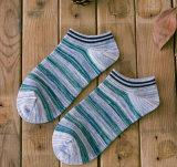 Calcetines del barco del resorte del algodón del otoño rayó hombres al por mayor