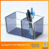 Casella acrilica da tavolino per la cassa di plastica penna del perspex/della penna per l'ufficio