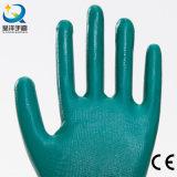 gants de travail de sûreté enduits par nitriles d'interpréteur de commandes interactif du polyester 13G (N6020)