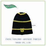 Шлем Knit зимы вышивки способа выдвиженческий черный новый