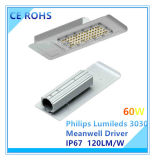 Lâmpada de rua Ultra-Magro do diodo emissor de luz de 120W a Philips Lumileds com excitador de Meanwell