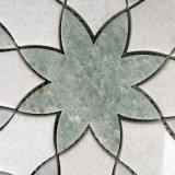 Chorro de agua de mármol de colores mezclados Mosaico de diseño de flores