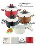 Il Cookware economizzatore d'energia del POT del POT di alluminio rivestito di ceramica antiaderante della salsa imposta Sx-A023