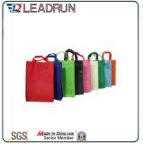 Sac à provisions non-tissé de main de toile de coton de cuir de sac à provisions de sac à dos (X041)