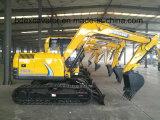 Nueva pequeña velocidad de Excavators_High de la correa eslabonada del compartimiento Bd80 del amarillo 0.4m3