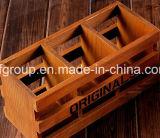 Rectángulo de madera modificado para requisitos particulares respetuoso del medio ambiente del rectángulo de regalo para la visualización