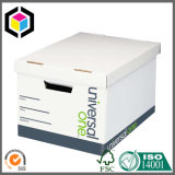 Caixa de pasta de armazenamento de papel de papelão de papelão rígido