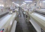 Tecido de raio cinzento branco para vestuário de impressão