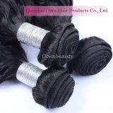 Venda por grosso de cabelo de ondas naturais Indian Remy de cabelo humano tecem
