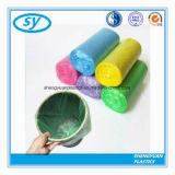Bolso de basura inútil colorido material del PE