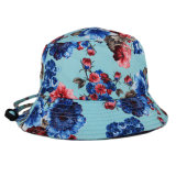 Cappello della benna stampato fiore normale all'ingrosso con stringa