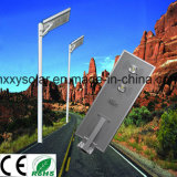 70W precio bajo todo en uno con la luz solar de la calle LED de poste
