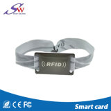 Carte en nylon réglable de PVC du bracelet S50 d'IDENTIFICATION RF de courroie avec le blocage en plastique