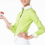 Chef-Mantel-Küche-Uniform-Oberseiten 100% der Baumwollfrauen