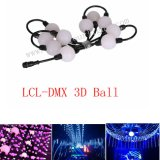 Lichter der 50mm Milch-DMX 3D der Kugel-LED für Stadiums-Nachtklub