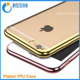 De uiterst dunne Kristal Geplateerde Gevallen van de Dekking TPU voor iPhone 6 Geval
