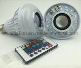 Van RGB LEIDENE van WiFi Licht van de Bol van Bluetooth van de Vlam het Slimme Sprekers van de Muziek Correcte