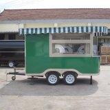 Heetste Verkoop met Kar van het Voedsel van Wielen de Mobiele/de Kar van de Verkoop van het Voedsel van de Straat met de Bevroren Machine van de Yoghurt
