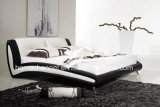 Best-Selling Modern Home Furniture Bedroom European Leather Bed (HCB002)