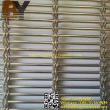 Revêtement métallique décoratif en acier inoxydable / maillage métallique architectural