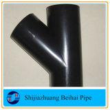 45 grados de acero inoxidable y tubo de la rama lateral de la colocación de la t
