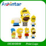 Movimentação do flash do USB do PVC dos desenhos animados do USB Pendrive da família de Simpson