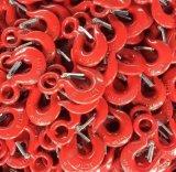 Crochet peint rouge d'émerillon d'acier allié