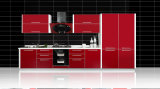 Gabinete de cozinha lustroso elevado UV do MDF da venda quente (ZX-030)