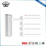 Kundenspezifisches Schwarzes/Splitter/rosafarbene des Gold390mah Batterie Kasten-MOD-Vape
