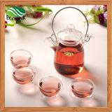 Оптовая торговля 5PCS Термостойкий хрустальное стекло набор для приготовления чая