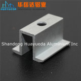 La protuberancia de aluminio de la alta calidad modificó perfil para requisitos particulares de aluminio anodizado color blanco cuadrado