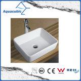 Dispersore di lavaggio del Governo del bacino di ceramica di arte e della mano superiore di vanità (ACB8244)