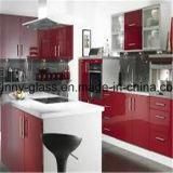 Vidro pintado decorativo vermelho para a cozinha