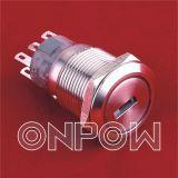 Onpow 금속 누름단추식 전쟁 (LAS1-AGQ Series, 19mm, RoHS 의 세륨, UL, CCC)