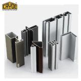 6063 T5 pistas Triple Ventana corrediza de aluminio de extrusión de perfil