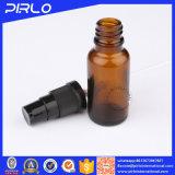 bouteille de pétrole ambre de 30ml Essentical avec la bouteille en verre de Whosale de jet noir de brouillard
