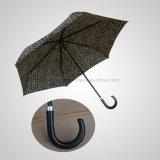 Manual Mini Umbrella Mini 3つのフォールドの方法女性木の屈折のハンドルの傘(JF-MMO304)