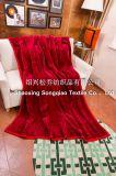 明白なアクリル毛布/Raschel毛布-赤
