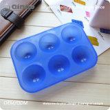 Moulages ronds bleus de gâteau de silicones en caoutchouc normal pour des gâteaux
