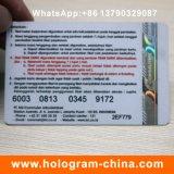 Etiqueta holográfica de papel sellada caliente de encargo