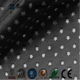 Couro sintético do PVC da perfuração para sapatas/sapatas atléticas/sapatas do esporte/sapatas do futebol