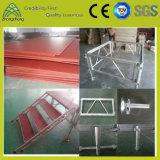Etapa portable de aluminio modificada para requisitos particulares de la madera contrachapada al aire libre del funcionamiento