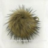 帽子のための良質の毛皮のポンポンのアライグマの毛皮