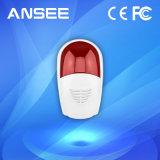 Sirena de alarma inalámbrica con Red flash de luz estroboscópica para sistema de seguridad Uso