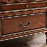 Cabinet en bois antique en bois avec portes en verre (GSP15-002)