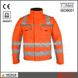 Segurança de venda quente jaqueta com fita refletiva jaqueta de alta visibilidade