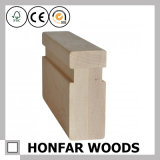Balustrade d'escaliers en bois solide de type de simplicité pour la décoration à la maison