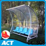 Asiento portable del cobertizo del abrigo de las personas de fútbol con los asientos plásticos individuales